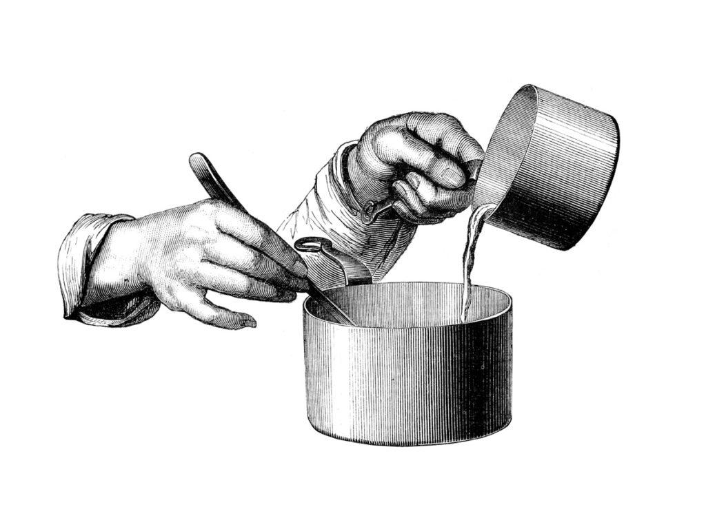 Mains-cuisinier-gestes-lithographie-Ronjat-1874-les-causeries-culinaires-recettes-ancetres-boutique-cours-cuisine-histoire